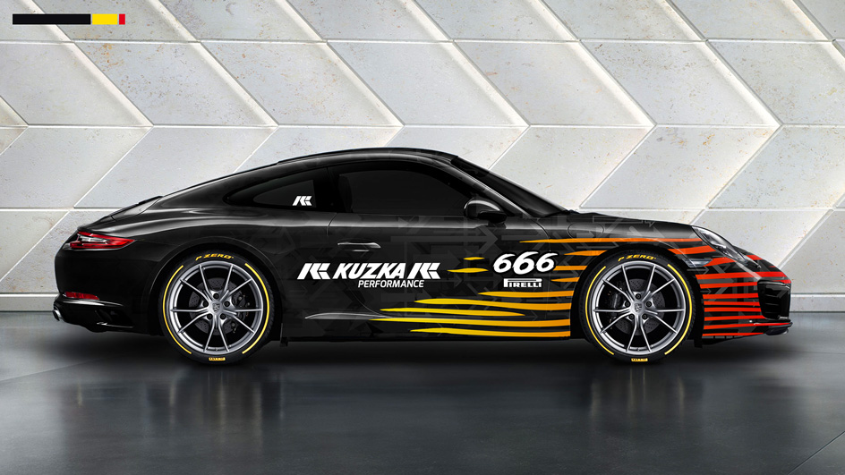 Edgy and Cheesy Porsche Art Car Design Pirelli