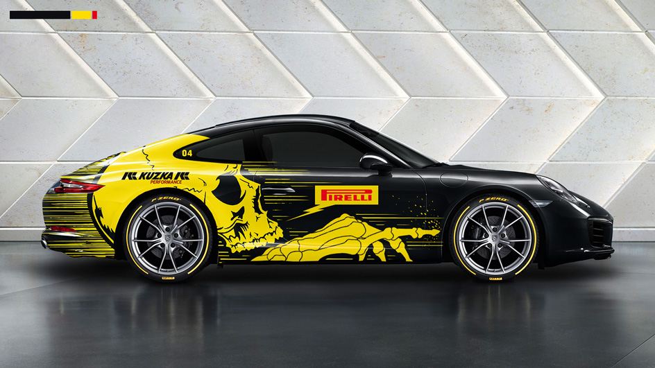 Edgy and Cheesy Porsche Art Car Design Kuzka