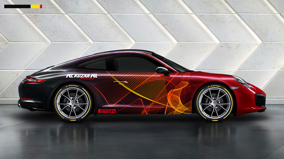 Edgy and Cheesy Porsche Art Car Design Brand Design