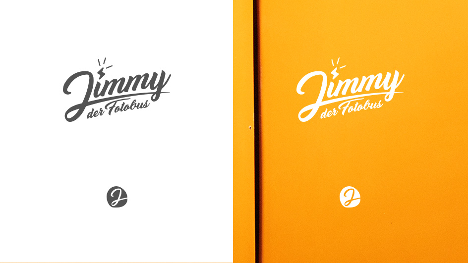Edgy & Cheesy Jimmy Fotobus Logo Design