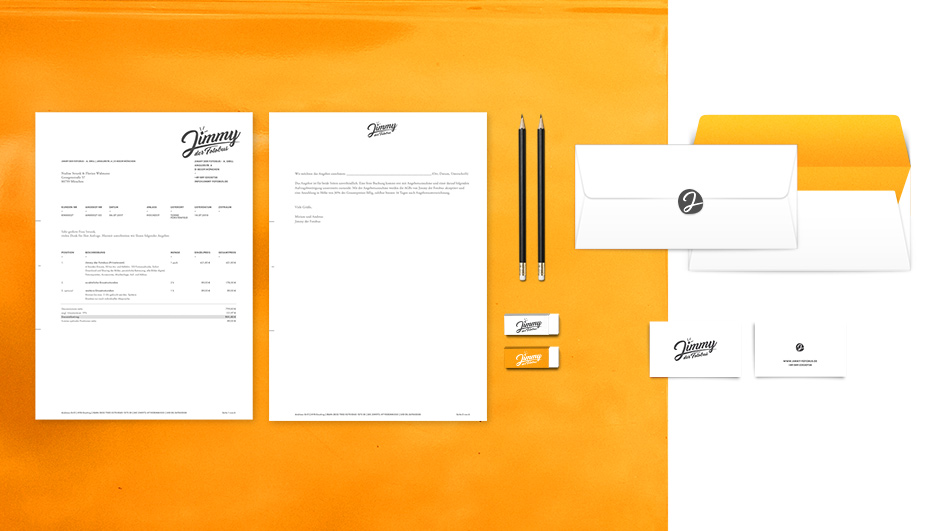 Edgy & Cheesy Jimmy Fotobus Corporate Identity