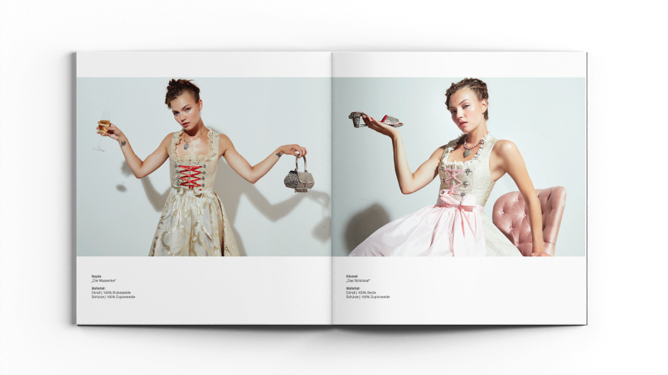 Edgy & Cheesy Nero Dirndl Corporate Identity Fashion Label