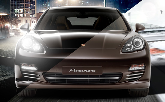 Edgy & Cheesy Porsche Panamera Event Visual Design München
